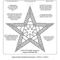 (TP7139EC)PCA® EasyCut Large Christmas Star