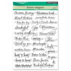 (30-387)Penny Black Stamp clear Festive snippets