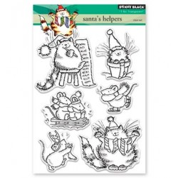 (30-385)Penny Black Stamp clear Santa's Helper