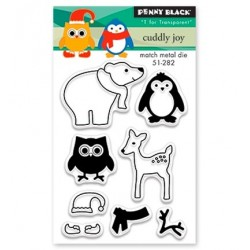 (30-378)Penny Black Mini Stamp clear Cuddly joy