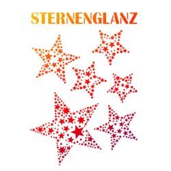 (9002.774.00)Viva Decor stencil A4 Sternenglanz