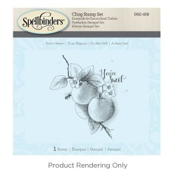 (DSC-026)Spellbinders You're Sweet 3D Cling Stamp Set
