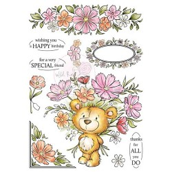 (AS002)Wild Rose Studio`s A5 stamp set Milton