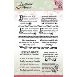 (PMCS10017)Clearstamp - Precious Marieke - Seasonal Flowers - Te