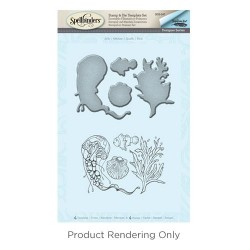 (SDS-047)Spellbinders Jelly Stamp & Die Template Set