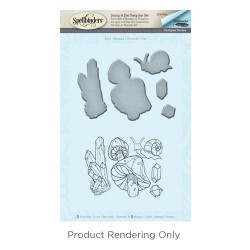 (SDS-045)Spellbinders Snail Stamp & Die Template Set