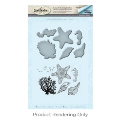 (SDS-044)Spellbinders Starfish Stamp & Die Template Set