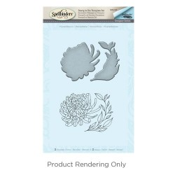 (SDS-042)Spellbinders Chrysanthemum Stamp & Die Template Set