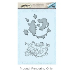 (SDS-041)Spellbinders Squirrel Stamp & Die Template Set