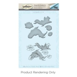 (SDS-040)Spellbinders Koi Stamp & Die Template Set