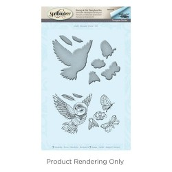 (SDS-039)Spellbinders Owl Stamp & Die Template Set