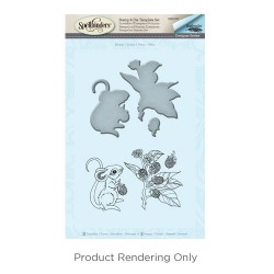 (SDS-037)Spellbinders Mouse Stamp & Die Template Set