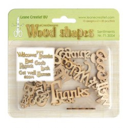 (71.3004)Leane Creatief Wood Shapes Wishes