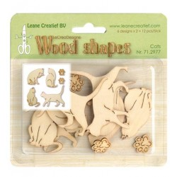 (71.2977)Leane Creatief Wood Shapes Cats