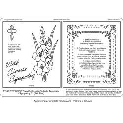 (TP7149EC)PCA® EasyCut Inside/Outside Sympathy - 2 (A6 size)