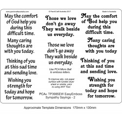 (TP3985EW)EasyEmboss Words Sympathy Sayings - 2
