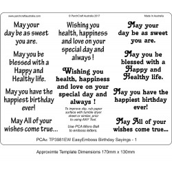(TP3981EW)EasyEmboss Words Birthday Sayings - 1