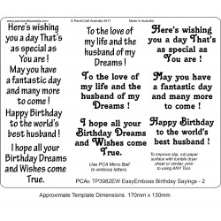 (TP3982EW)EasyEmboss Words Birthday Sayings - 2