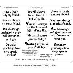 EasyEmboss Words Birthday Sayings - 3