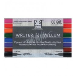 (MS-6300/8V)Writer of Vellum Pure 8 Colours Set
