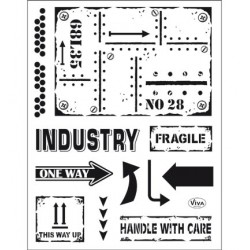 (4003 159 00)Clear Stamps - Industrial Style