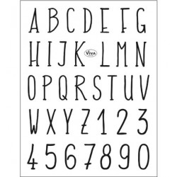 (4003 155 00)Clear Stamps - Alphabet modern