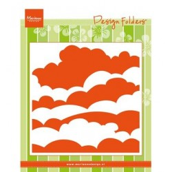 (DF3434)Marianne Design Embossing folder Clouds