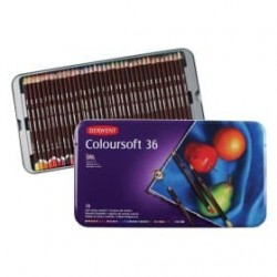 (0701028)Derwent coloursoft Pencils 36 colours