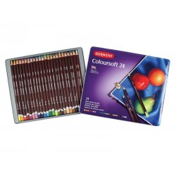 (0701027)Derwent coloursoft Pencils 24 colours