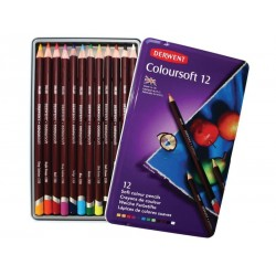 (0701026)Derwent coloursoft Pencils 12 colours