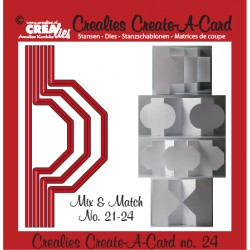 (CCAC24)Crealies Create A Card no. 24 die for card