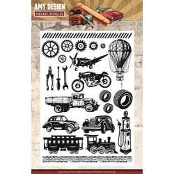 (ADCS10014)Clearstamp - Amy Design - Vintage Vehicles