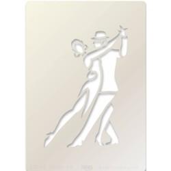 (STE-PE-00381-A5)Claritystamp Art Stencil A5 Tango Dancers