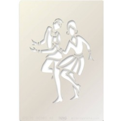 (STE-PE-00380-A5)Claritystamp Art Stencil A5 Jive Dancers