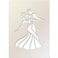 (STE-PE-00379-A5)Claritystamp Art Stencil A5 Ballroom Dancers