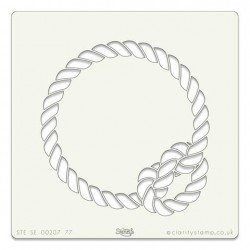 (STE-SE-00207-77)Claritystamp Art Stencil 7x7 Inch Rope Knot