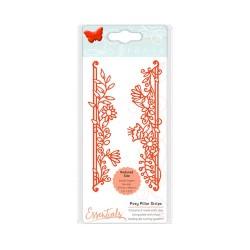 (1536E)Tonic Studios Die fanciful floral - posy pillar strip