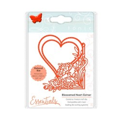 (1535E)Tonic Studios Die fanciful floral - blossomed heart