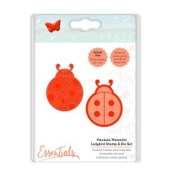 (1548E)Tonic Studios mandala moments - ladybird stamp & die set