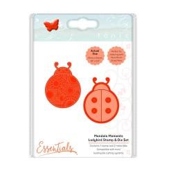(1548E)Tonic Studios mandala moments - ladybird stamp & die set
