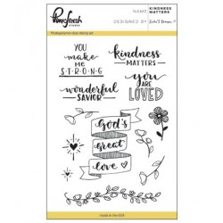 (PFCS1417)Pinkfresh clear stamp Kindness matters