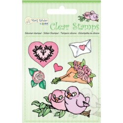 (9.0031)Marij Rahder Clear Stamps Birds