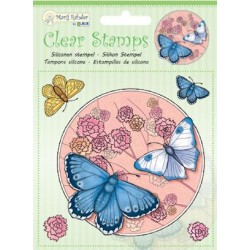 (9.0033)Marij Rahder Clear Stamp butterfly