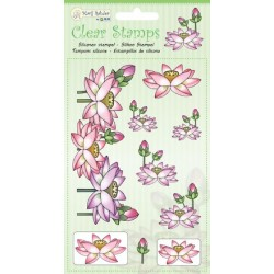 (9.0035)Marij Rahder Clear Stamps Lotus
