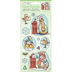 (9.0037)Marij Rahder Clear Stamp winter animals