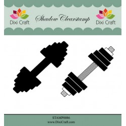 (STAMP0086)Dixi Shadow Clear Stamp weightlifting