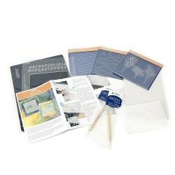 (GRO-SK-40571-XX)Groovi Plate starter kit de luxe