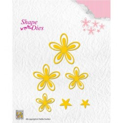 (SD126)Nellie's Shape Dies Text Flowers-3