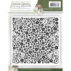 (PMEMB10010)Embossing Folder - Precious Marieke - Fantastic Flowers