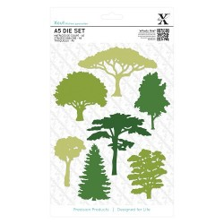 (XCU503306)A5 Die Set (7pcs) - Woodland Trees